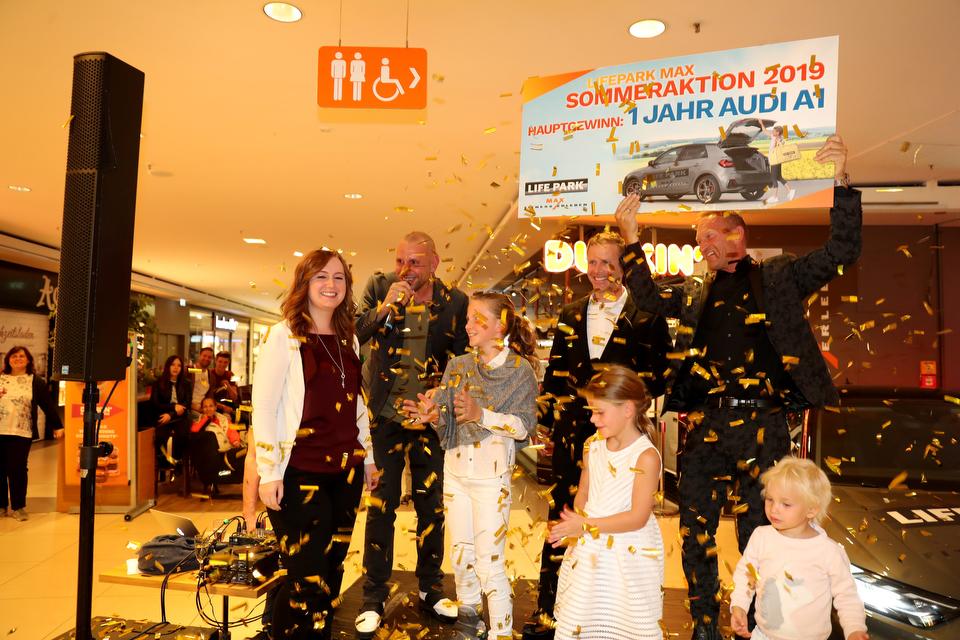 Ein ganzes Jahr lang AUDI A1 fahren — Auslosung LIFEPARK MAX SOMMERAKTION 2019