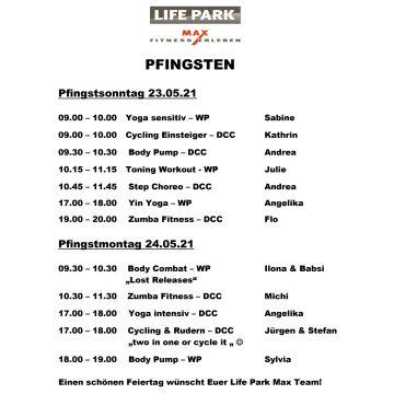 Onlineprogramm Pfingsten