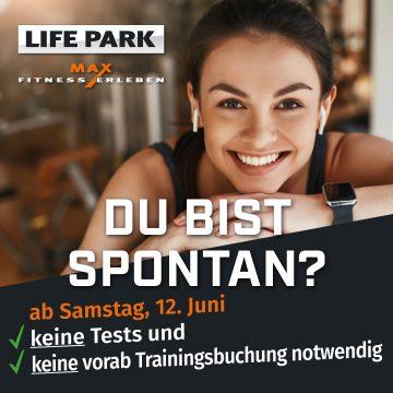 Du bist spontan?